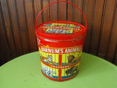 Vintage 1991 Nabisco Barnum's Animals Crackers Tin by peacenluv72, $14.75