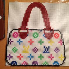 Louis Vuitton bag hama perler beads by bittermus
