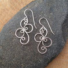 Small Fancy Spiral Sterling Silver Earrings by EarthstarStudioArt