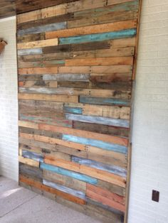 My pallet wall!!