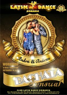Vineri, 8 Iulie, ora 21:00, WorkShop Bachata Sensual la Club Latino Dance Romania ~ Str. Baratiei 33. Intrarea: 14,5 Lei.