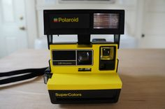 Extremely RARE Bright Yellow Supercolors Polaroid 600 Instant Film Camera Tested | eBay