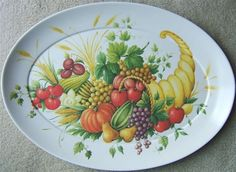 Look what I found on @eBay! http://r.ebay.com/k1xy4L Vintage BROOKPARK CORNUCOPIA Horn Of Plenty HOLIDAY MELMAC MELAMINE PLATTER 1521