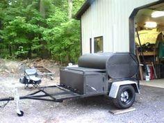 Afbeeldingsresultaat voor oil tank smoker on wheels Build A Smoker, Diy Smoker, Homemade Smoker, Bbq Smoker Trailer, Trailer Smokers, Smoker Cooker, Custom Smokers, Custom Bbq Pits, I Grill