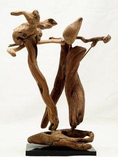 Driftwood arte scultura Tango... Scultura in di driftwoodartwork