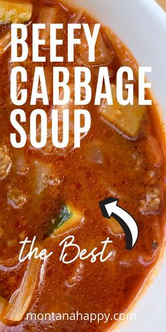 Low Carb Beef Cabbage Soup Recipe * Easy Cabbage Soup Recipe * Cabbage Soup Recipe with Hamburger * Detox Cabbage … Crock Pot Recipes, Best Soup Recipes, Detox Recipes, Meat Recipes, Crockpot Ideas, Family Recipes, Chili Recipes, Vegetable Recipes, Cooking Recipes