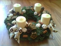 adventi koszorú Candle Sconces, Pillar Candles, Wall Lights, Table Decorations, Christmas, Home Decor, Advent, Xmas, Appliques