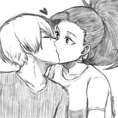 Todoroki Shouto and Yaoyorozu Momo