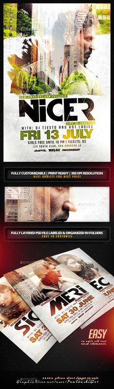 Double Exposure Flyer Template - Clubs & Parties Events