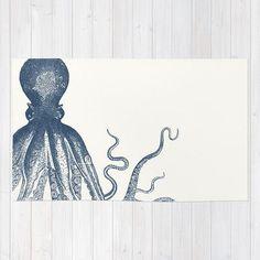 Nautical Octopus Bathroom Rug