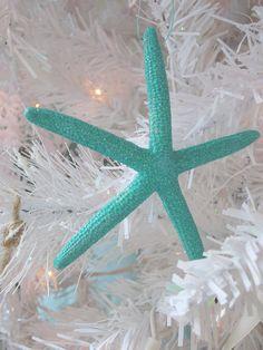 Turquoise Starfish Ornament Set of 3