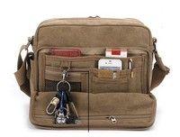 3af53a1c7d57 Men multiple-pockets canvas bag messenger casual Canvas Messenger Bag