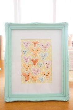 Thumbprint bunnies for art or card