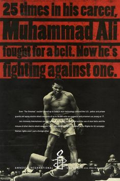 Muhammad Ali for our campaign against misuse of stun guns and electro-shock weapons. Mohamad Ali, Electro Shock, Human Rights Campaign, Video Contest, Sports Channel, Lifetime Achievement Award, Amnesty International, Uk Photos, Work Inspiration