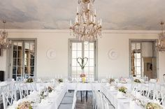 chic wedding decor, image by http://www.lenalarsson.com/