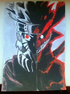 Naruto nine tails mode :-) just keep calm :-) Naruto Nine Tails Mode, My Drawings, Joker, Calm, Fictional Characters, Jokers, The Joker
