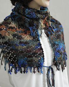 crochet scarf shawl