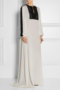 OSCAR DE LA RENTA Embellished lace-paneled silk-chiffon gown $4,990.00 http://www.net-a-porter.com/products/599320