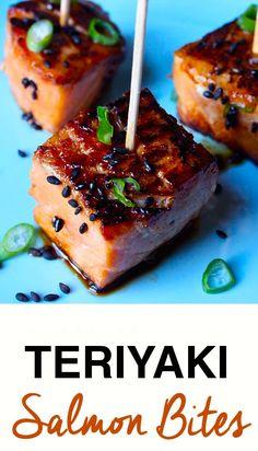 Teriyaki Salmon Bites (use #glutenfree soy sauce)