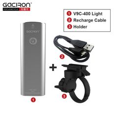 GACIRON Cycling WaterProof led lights usb rechargeable mini bike 400 Lumens handlebar front light bicycle accessories