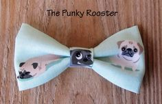 Pugs Bow Tie Clip on Bow Tie Boys Bow Tie by ThePunkyRooster - Pugs