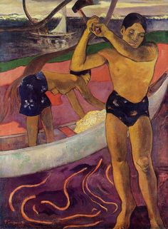 Man with an Ax by Paul Gauguin