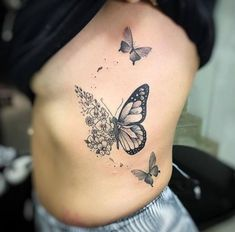 butterfly tattoo meaning ; butterfly tattoo behind ear ; Side Tattoos, Body Art Tattoos, Small Tattoos, Sleeve Tattoos, Pretty Tattoos, Beautiful Tattoos, Cool Tattoos, Tatoos, Butterfly Tattoos For Women