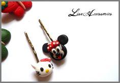 Agrafe Disney pentru copii Bobby Pins, Lisa, Hair Accessories, Fruit, Disney, Handmade, Shopping, Food, Hand Made