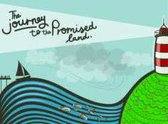 """""""Journey to the Promised Land"""" Illustrations done for Leadership Solutions by Courtney Kupferman"""