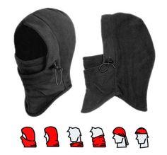 Thermal Fleece Balaclava Winter Ski Outdoor Sports Full Face Neck Mask Hat Cap #Unbranded