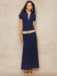 Polo Maxidress - Maxi Dresses Dresses - RalphLauren.com