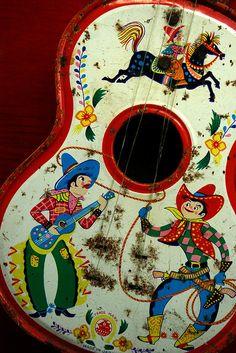 Cowboy guitar vintage kitsch by fotofraulein