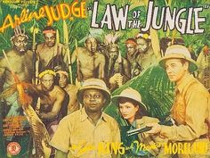 LAW OF THE JUNGLE (1942) Arline Judge - John 'Dusty' King - Mantan Moreland - An expedition to the jungle find Nazis hiding amongst the natives.