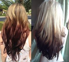 Image result for blonde to strawberry blonde ombre