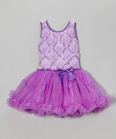 Look at this #zulilyfind! Purple Sequin & Rosette Tutu Dress - Infant, Toddler & Girls #zulilyfinds