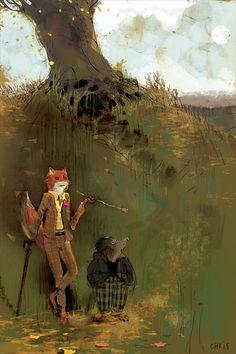 Living Lines Library: Fantastic Mr. Fox (2009) - Concept Art