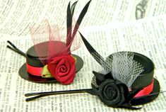 DIY: How To Make Tiny Hats Bobby Pins