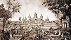 Drawing of Angkor Wat in 1880 by Louis Delaporte.