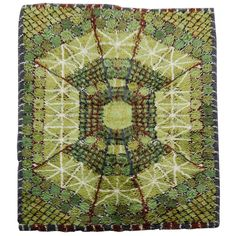 View this item and discover similar for sale at - Vintage Swedish Modern hand-knotted rya rug in gorgeous shades of green with brown spider-web design. Rya Rug, Wool Rug, Finger Weaving, Modern Tapestries, Fabric Rug, Woven Wall Hanging, Floor Decor, Modern Retro, Modern Rugs