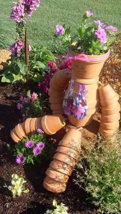 terra cotta flowerpot girl, container gardening, crafts, gardening, how to