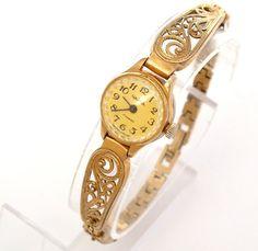 rectangular womens gold plated wrist