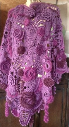 Your place to buy and sell all things handmade Freeform Crochet, Crochet Art, Irish Crochet, Crochet Shawl, Crochet Tops, Crochet Designs, Crochet Patterns, Lace Wrap, Irish Lace