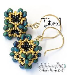 TUTORIAL Baroque Cube Beaded Bead Made with Peyote by gwenbeads