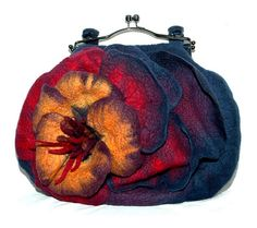 felt bag by Agnieszka Borkowska! - Glorious saturated colours. I love this but can't find more about the creator. S