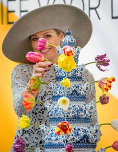 Queen Maxima of the Netherlands opens the exhibition 'Forbidden Porcelain Exclusive for the emperor' at museum Prinsenhof on April 7, 2017 in Delft, The Netherlands.