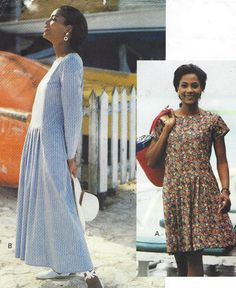 90s Vogue Sewing Pattern 8293 Womens Dress Dropped by CloesCloset
