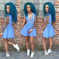 Hair color, pretty dress