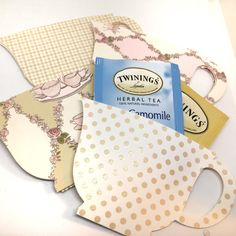 Tea Bag Favors - Tea Bag Holders - Cottage Tea Cup - Set of 12  - Ready to ship, Wedding Favor, Tea Party Favor, Bridal Shower, Baby Shower by MyCutieBows on Etsy