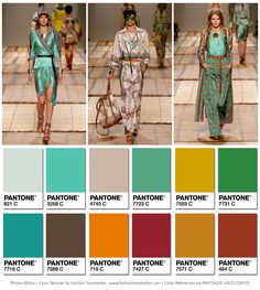 Etro showcased its Spring/Summer 2017 Womenswear Fashion Show during Milan Fashion Week on September 23, 2016. Here are the color codes we decoded from Etro's Spring/Summer 2017 Ready-to-Wear collection. Photo credits:ETRO,Courtesy ofwww.etro.