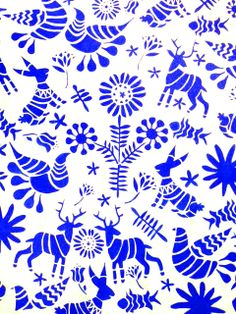 Artelexia: DIY Otomi Fabric - stencils or link to free pattern